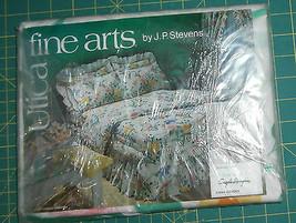 Vtg Stevens Utica Angelo Donghia Fine Arts Twin Flat Spring Flowers  - $17.41