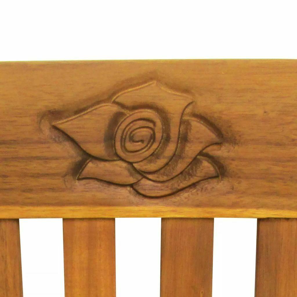 vidaXL Acacia Wooden Rose Garden Bench Outdoor Patio Deck Porch Chair Seat image 4