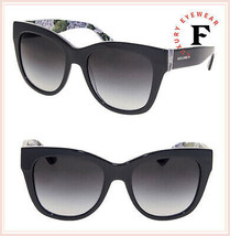 DOLCE & GABBANA PRINT FAMILY Floral Grey Hydrangea 4270 Sunglasses DG4270S - $256.41