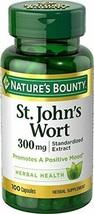 Nature's Bounty St. John's Wort Pills and Herbal Health Supplement, 100 Capsules - $43.27