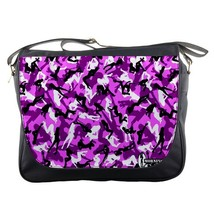 Messenger Bag Bape Camo Abstract Art Girl Purple Design For Animation Fantasy Ga - $30.00