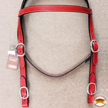 Hilason Western Horse Headstall Bridle American Leather Draft Mahogany U-F-HS - $42.07