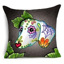 Dachshund pillow cover dachshund art dachshund painting cushion cover - €11,01 EUR