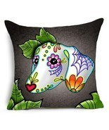 Dachshund pillow cover dachshund art dachshund painting cushion cover - £9.75 GBP