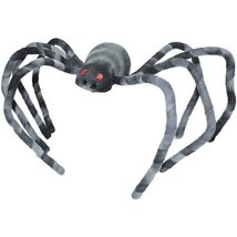 """Scary Halloween Spider Indoor Outdoor Party Decoration 22"""" Black & White... - $16.66"""