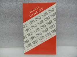 Dodge Dynasty 1993 Owners Manual 16657 - $13.81