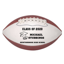 Personalized Custom Class of 2020 Graduation Mini Football Gift Black Text - $34.95