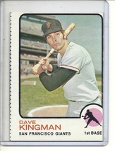 (b-31) 1973 Topps #23: Dave Kingman- Factory Error - Off-Set Cut - $7.00