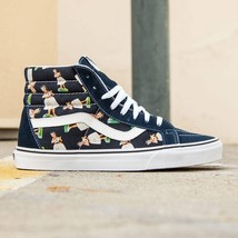 VANS Sk8 Hi (Digi Hula) Parisian Night/True White ALOHA MEN'S 7 WOMEN'S 8.5 - $44.95