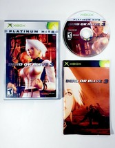 Dead or Alive 3 -- Platinum Hits (Microsoft Xbox 2001) Complete with Manual CIB - $9.45