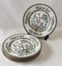 Set of 7 Vintage J & G Meakin Indian Tree Salad Plates - $30.00