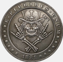 Hobo Nickel 1881-CC USA Morgan Dollar The Skulls Horror COPPY COIN For - $5.99