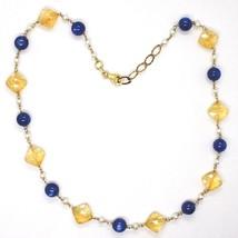 Collier Argent 925, Jaune, Quartz Citrine Facettes, Cyanite, Perles Ronde image 2