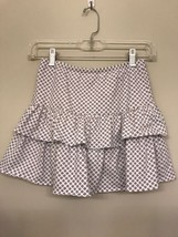 Lands End Girls Skort (Shorts in a Skirt) Size 8 White Tiered Flower - $9.89