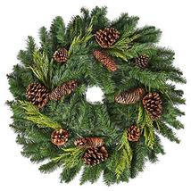 "26"" Juniper Pine Wreath 30"" Fully Opened - Accurately Mimics Texture and Color o image 4"