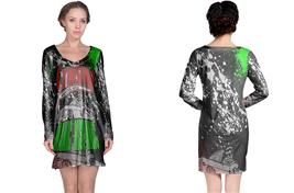 Long Sleeve Night Dress  Manic Hispanic Fans - $23.99+