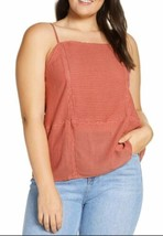 Hinge Lace Trim Camisole Top Rust Marsala XXL NWT $59 - $16.74