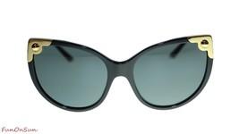 Dolce Gabbana Cat Eye Sunglasses DG4337 50187 Black/Grey Lens 60mm - $222.13