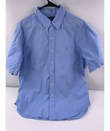 Polo Ralph Lauren Men's Blue Classic Fit Button Front Shirt XL Orange Po... - $20.56