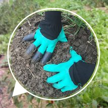 Garden Rubber Gloves With Claws Quick Easy to Dig and Plant For Digging ... - $14.99