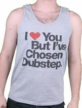 I Love You But I've Chosen Mens Dubstep Grey Tank Top Muscle Shirt NEW image 1
