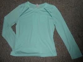 DANSKIN NOW Light Green Long Sleeved Top Girls Size 10-12 - $3.66