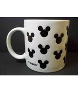 Disney Mickey Mouse coffee mug black impressed silhouette heads on white... - $8.56