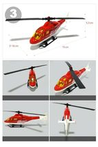 Fire Fighting Department Die-Cast Car Helicopter Tow Ladder Truck Vehicle Toy image 4