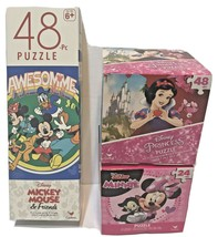 Disney Mickey and Minnie Mouse 24 and 48 Piece Jigsaw Puzzles Lot of 3 New - $10.62