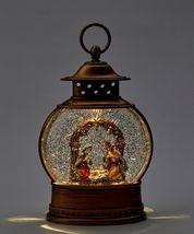 "Nativity Water Lantern Jesus, Mary, Joseph Lights Up w Warm Light 10"" High image 3"