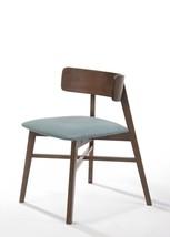 VIG Modrest Travis Modern Blue Fabric & Walnut Dining Chair (Set of 4)  - $741.00