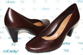 "❤️ NURTURE Avery Chocolate Leather 3"" Heel Comfort Pumps 7 M EXCELLENT! ... - $22.03"
