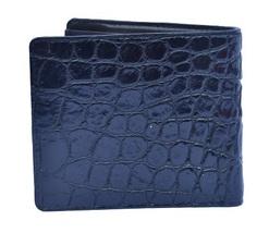 Elegant Men Choice In Pretty Nice Black Color Premium Crocodile Leather Wallet - $176.39