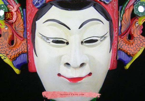 Chinese Drama Home Wall Décor Opera Mask 100% Wood Craft Folk Art #124 Pro