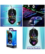 NEW SEALED Official Bugha LED Gaming Mouse 7-Key/7200 DPI USB Wired For PC - $27.83