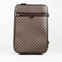 "Louis Vuitton Damier Ebene Coated Canvas ""Pegase 55"" Suitcase - $2,210.00"