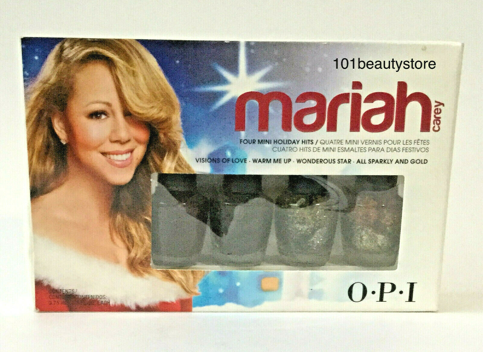 Primary image for OPI Mariah Carey Four Mini Holiday Hits 3.75ML Each *NEW*
