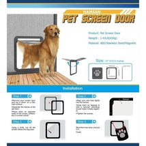 Dog Gate Way - Magnetic Automatic Lock/Lockable Pet Screen Door Large 12... - $63.16