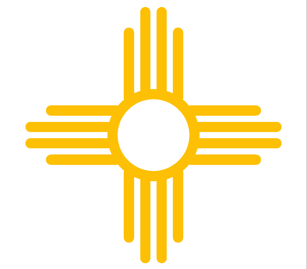 10 Zia New Mexico State Flag Symbol Vinyl And 50 Similar Items