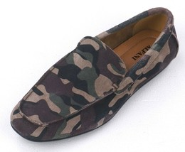 New Alfani Green Camo Suede Slip On Loafers Size 9 **Floor Sample - $16.82