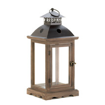 Large Rustic Wood Lantern - $38.48