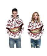 Men HAHA Joker Sweatshirt Women Clown Hoodies Hip Hop GOTHIC Pullovers S... - $19.45