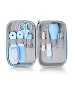 Baby Grooming Kit, 8 in 1 Baby Hair Brush/Nail Clipper/Nose Cleaner/Finger - $27.12