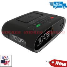Triple Display NFC Bluetooth Alarm Clock Wireless QI/PMA Dual Standard C... - $232.65