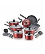 Dishwasher Safe Cookware Set, 18 Piece, Red Initiatives Nonstick Inside - $260.99+