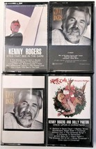 Lot of 4 Kenny Rogers Cassettes and Christmas Cassette with Dolly Parton - $9.79