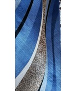 "Van Heusen ~ 100% Silk ~ 59"" Necktie ~ Blue ~ Brown ~ Ivory & Black in C... - $15.84"