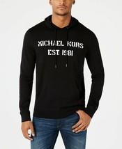 Michael Kors Men's Logo Graphic Hoodie, Size L, Black, MSRP $148 - $66.61