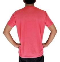 Lacoste Men's Premium Pima Cotton Casual V-Neck Shirt T-Shirt Dahlia Pink image 2