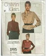 Calvin Klein Vogue Sewing Pattern 1995 Misses Blouse Size 10 VTG 70s - $12.59